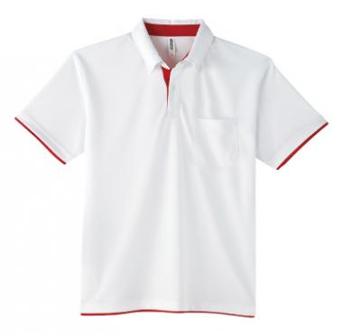 glimmer ドライレイヤードボタンダウンポロシャツ(ポケット付) 315-AYB