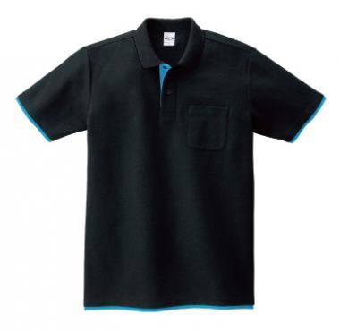 ベーシックレイヤードポロシャツ(ポケット付き)